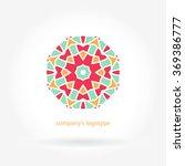 bright juicy logo. circular... | Shutterstock .eps vector #369386777