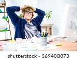 smiling hipster businessman... | Shutterstock . vector #369400073