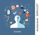 dilemma concept illustration  | Shutterstock . vector #369411227