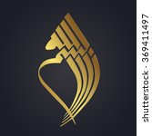 gold arabic calligraphy  text ... | Shutterstock .eps vector #369411497