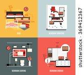 bedroom furniture icons set  | Shutterstock . vector #369412367
