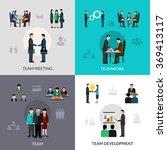 teamwork icons set | Shutterstock . vector #369413117