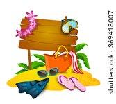 beach and summer background  | Shutterstock . vector #369418007