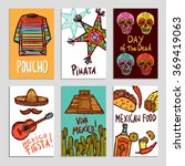 mexico poster set | Shutterstock . vector #369419063