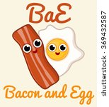 bacon and egg | Shutterstock .eps vector #369432587