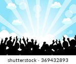 a crowd of people. vector... | Shutterstock .eps vector #369432893