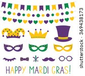 mardi gras vector decoration... | Shutterstock .eps vector #369438173