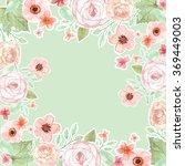 flower wedding invitation card  ... | Shutterstock . vector #369449003