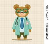 animal bear doctor cartoon... | Shutterstock .eps vector #369474407