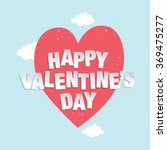 happy valentine's day greeting...   Shutterstock .eps vector #369475277