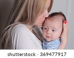happy mother and 3 month old... | Shutterstock . vector #369477917