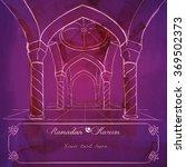 islamic design greeting... | Shutterstock .eps vector #369502373