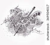 vector zentangle stylized... | Shutterstock .eps vector #369504017