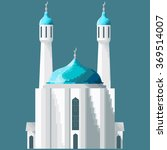 mosaic mosque with two minarets....   Shutterstock .eps vector #369514007