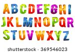 glossy colorful 3d alphabet... | Shutterstock .eps vector #369546023