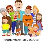illustration of a big family... | Shutterstock . vector #369550913