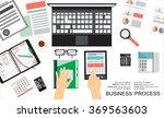 flat design illustration... | Shutterstock .eps vector #369563603