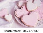 valentine day cookies in pastel ... | Shutterstock . vector #369570437