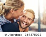 closeup  loving couple  blonde... | Shutterstock . vector #369575033
