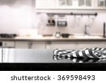 blurred background of kitchen... | Shutterstock . vector #369598493