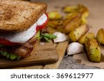 sandwich with bacon  avocado... | Shutterstock . vector #369612977