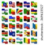 flat design african waving... | Shutterstock .eps vector #369615527