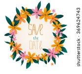 multi colored flowers ... | Shutterstock .eps vector #369624743
