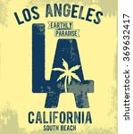 los angeles typography for t... | Shutterstock .eps vector #369632417