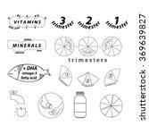 fourteen pregnancy food icons...   Shutterstock .eps vector #369639827