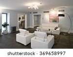 modern guestroom interior in... | Shutterstock . vector #369658997