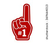number 1  one  fan hand glove... | Shutterstock .eps vector #369664013
