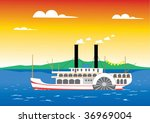 Paddle Steamer Sailing On The...