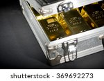 Aluminum Case Full Of Gold Bars