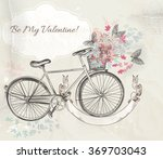 beautiful valentines day card... | Shutterstock .eps vector #369703043