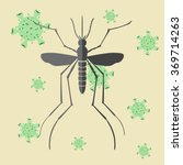 mosquito and virus. mosquitoes... | Shutterstock .eps vector #369714263