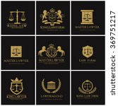 lawyer  logo collection. the... | Shutterstock .eps vector #369751217