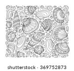 Seashell Pattern Art Backgroun...