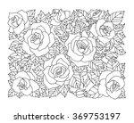 roses flowers  floral pattern... | Shutterstock .eps vector #369753197