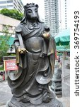 Small photo of Hong Kong, China - June 25, 2014: Chinese Zodiac Bronze Rat Stature at Sik Sik Yuen Wong Tai Sin Temple