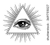 eye of providence. masonic... | Shutterstock .eps vector #369755027