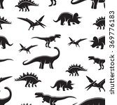 dinosaur black and white... | Shutterstock .eps vector #369776183