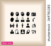 business man icons | Shutterstock .eps vector #369781283