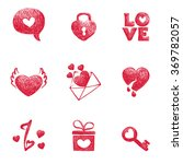 collection icons for valentines ... | Shutterstock .eps vector #369782057