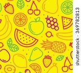 fruits seamless vector pattern...   Shutterstock .eps vector #369782813