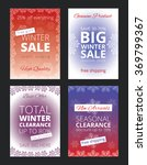 set of posters for winter sale  | Shutterstock .eps vector #369799367