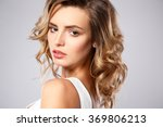 close up portrait of beautiful... | Shutterstock . vector #369806213