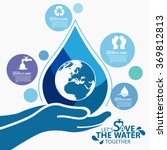 save the water  | Shutterstock .eps vector #369812813