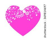 valentine's day with pink heart ... | Shutterstock .eps vector #369814697