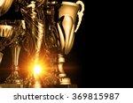 group of the golden trophies in ... | Shutterstock . vector #369815987