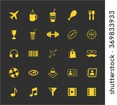 tourism and lifestyle icons set ... | Shutterstock .eps vector #369833933